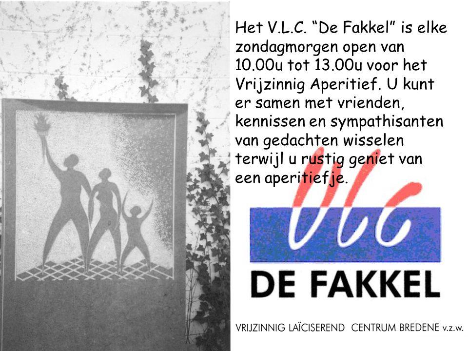 """Het V.L.C. """"De Fakkel"""" is elke zondagmorgen open van 10.00u tot 13.00u voor het Vrijzinnig Aperitief. U kunt er samen met vrienden, kennissen en sympa"""