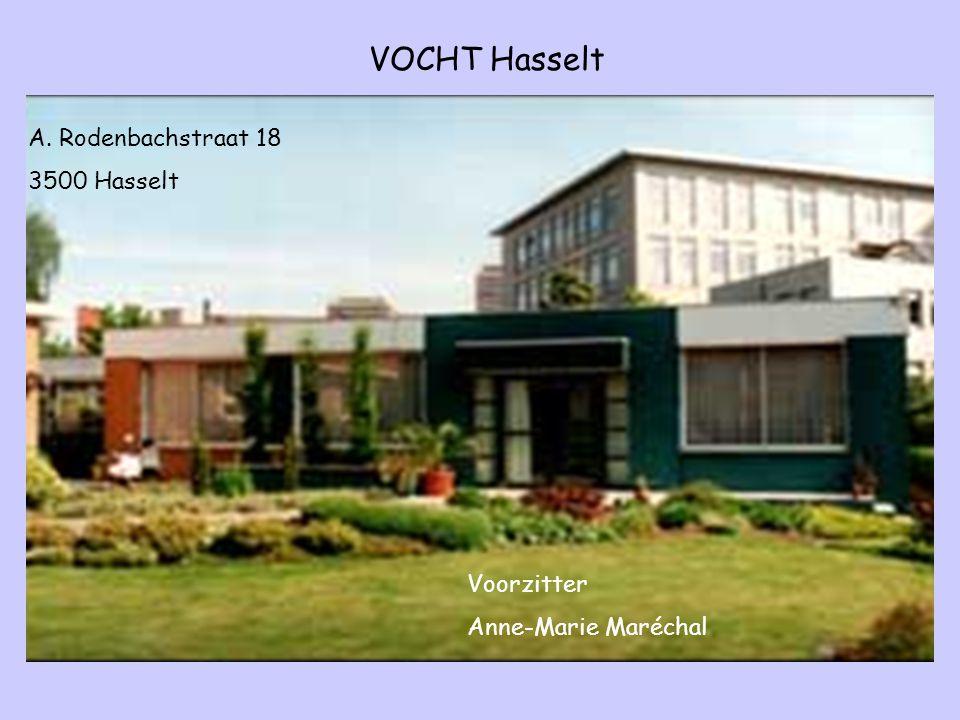 VOCHT Hasselt A. Rodenbachstraat 18 3500 Hasselt Voorzitter Anne-Marie Maréchal