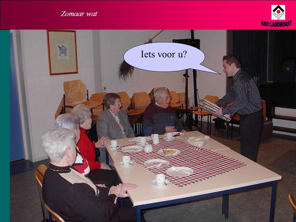 Zomaar wat Iets anders! 18 januari 2006, in De Stek. Een (verkoop)demonstratie van gezondheidsproducten. Kijk en huiver!