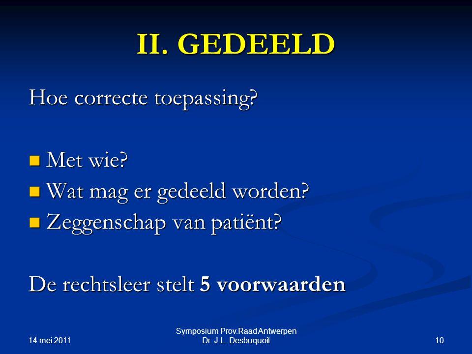 14 mei 2011 10 Symposium Prov.Raad Antwerpen Dr.J.L.