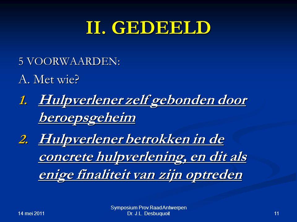 14 mei 2011 11 Symposium Prov.Raad Antwerpen Dr.J.L.