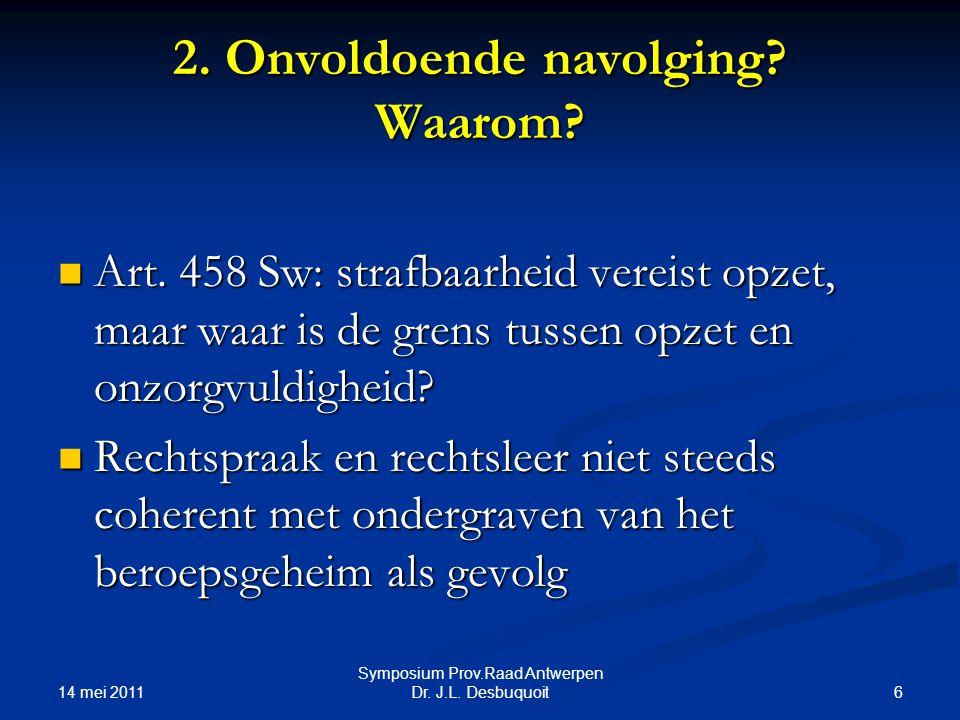 14 mei 2011 6 Symposium Prov.Raad Antwerpen Dr.J.L.