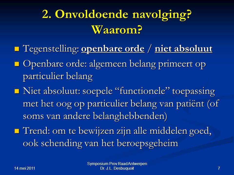14 mei 2011 7 Symposium Prov.Raad Antwerpen Dr.J.L.
