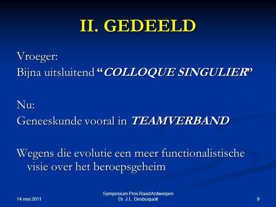 14 mei 2011 9 Symposium Prov.Raad Antwerpen Dr.J.L.