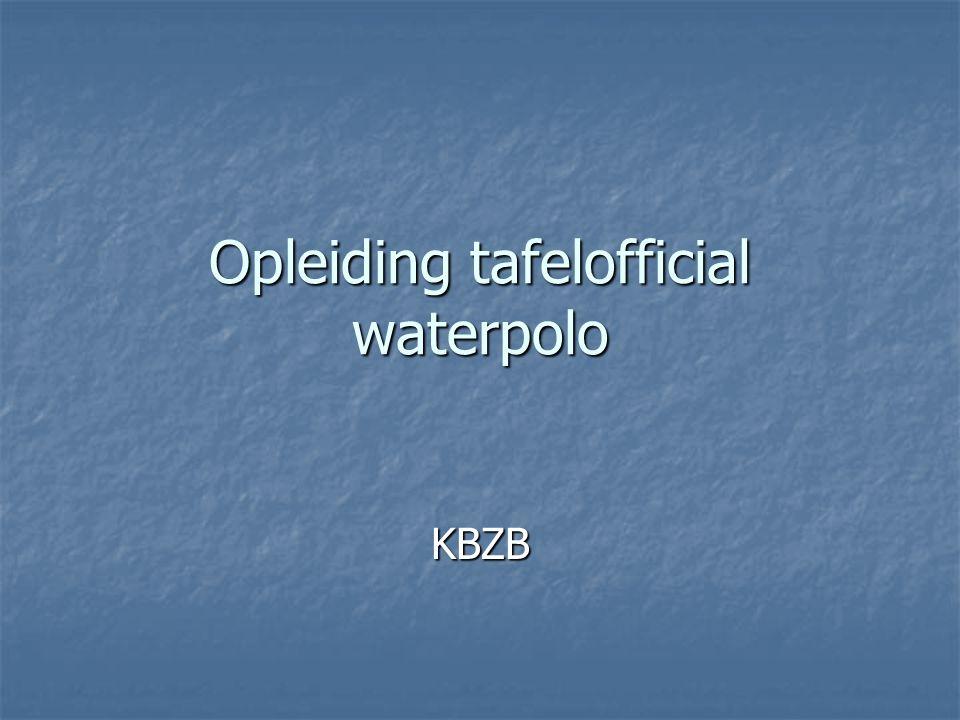 Opleiding tafelofficial waterpolo KBZB
