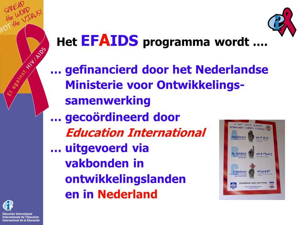Het EF A IDS programma wordt....