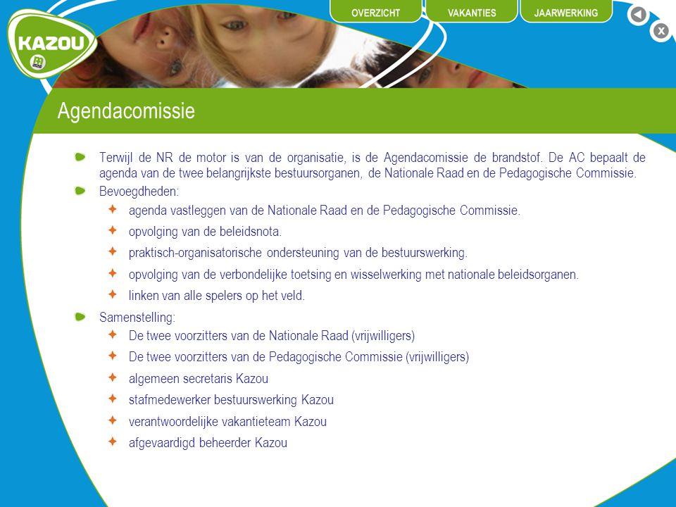 Agendacomissie Terwijl de NR de motor is van de organisatie, is de Agendacomissie de brandstof.