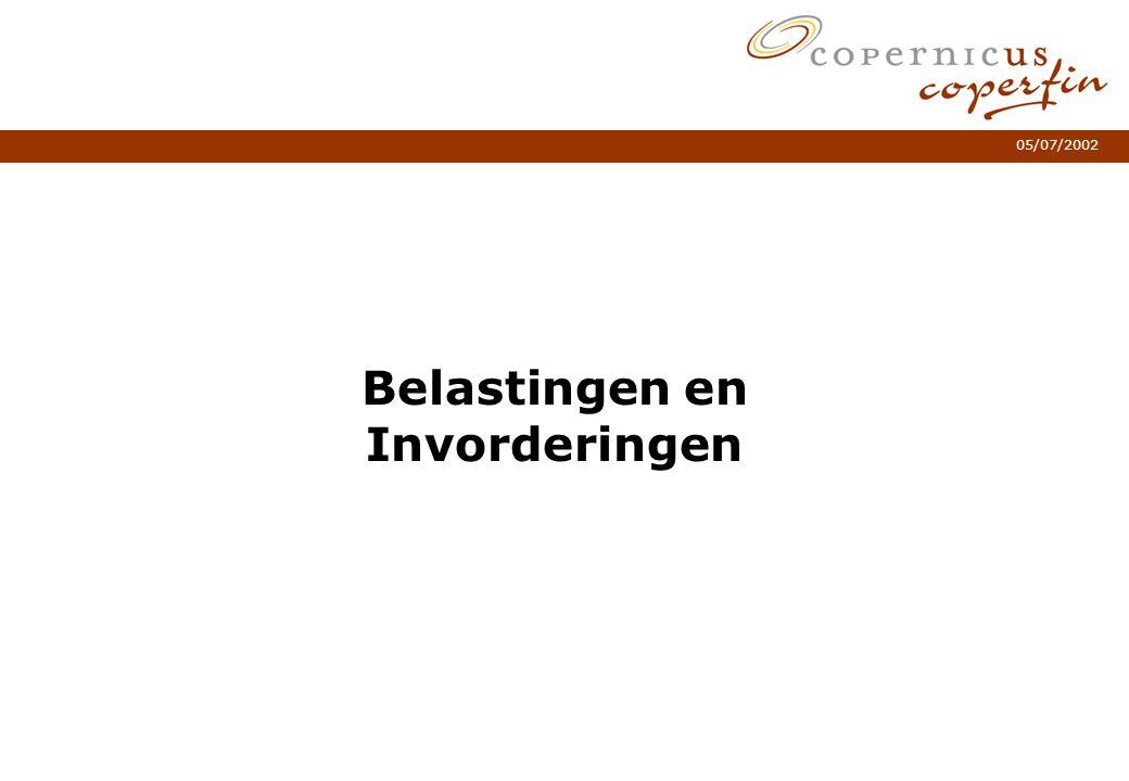 05/07/2002 Belastingen en Invorderingen Subtitel één of twee regels