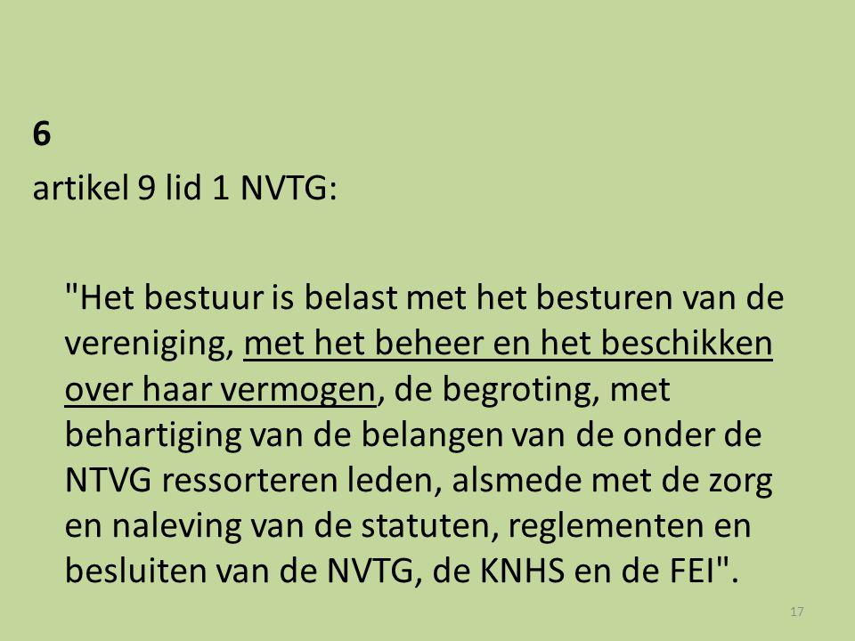 6 artikel 9 lid 1 NVTG: