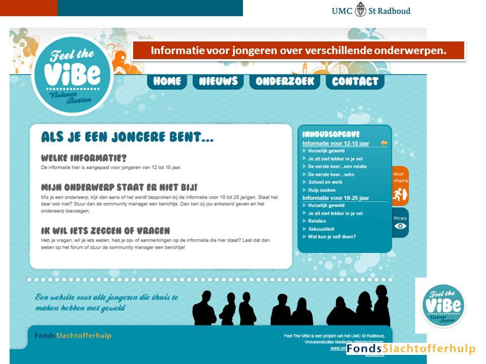 Informatie voor jongeren over verschillende onderwerpen.