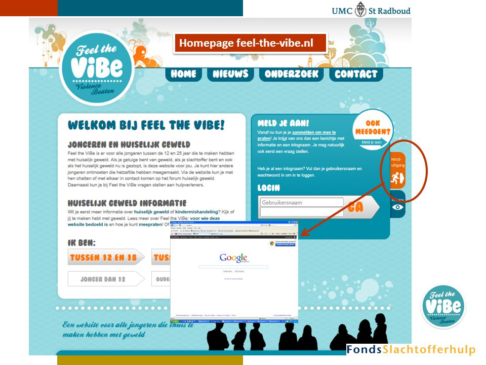 Homepage feel-the-vibe.nl
