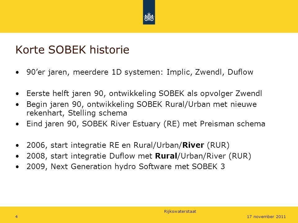 Rijkswaterstaat 1517 november 2011 Waarom specifieke functies in RE
