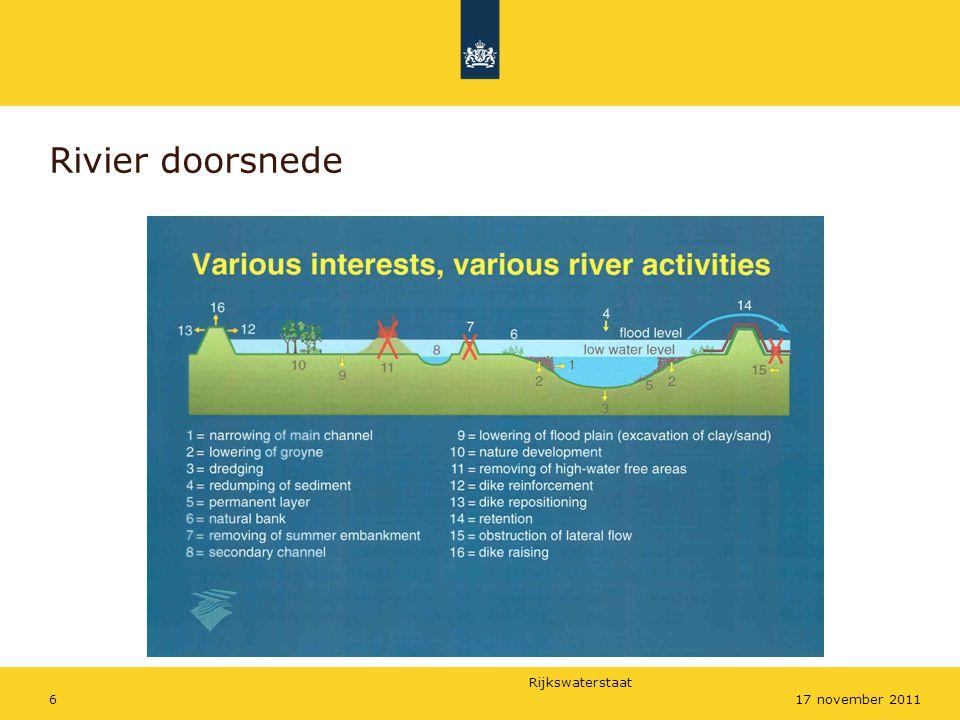 Rijkswaterstaat 1717 november 2011 SOBEK vakken