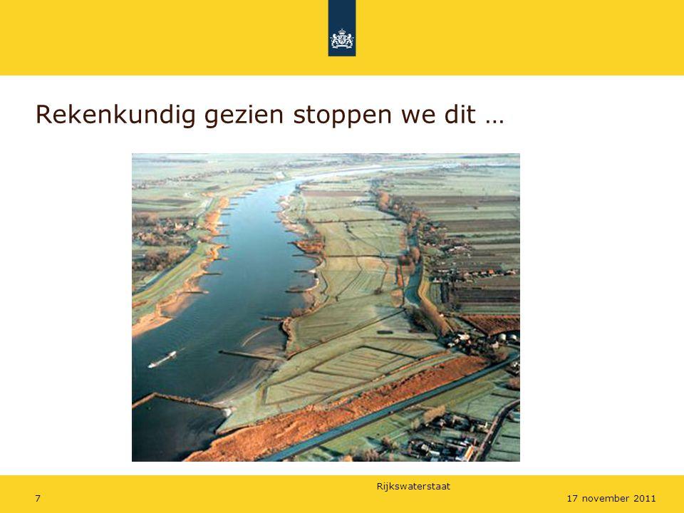 Rijkswaterstaat 2817 november 2011 Resultaat PID verbetering, streefpeil 122,8