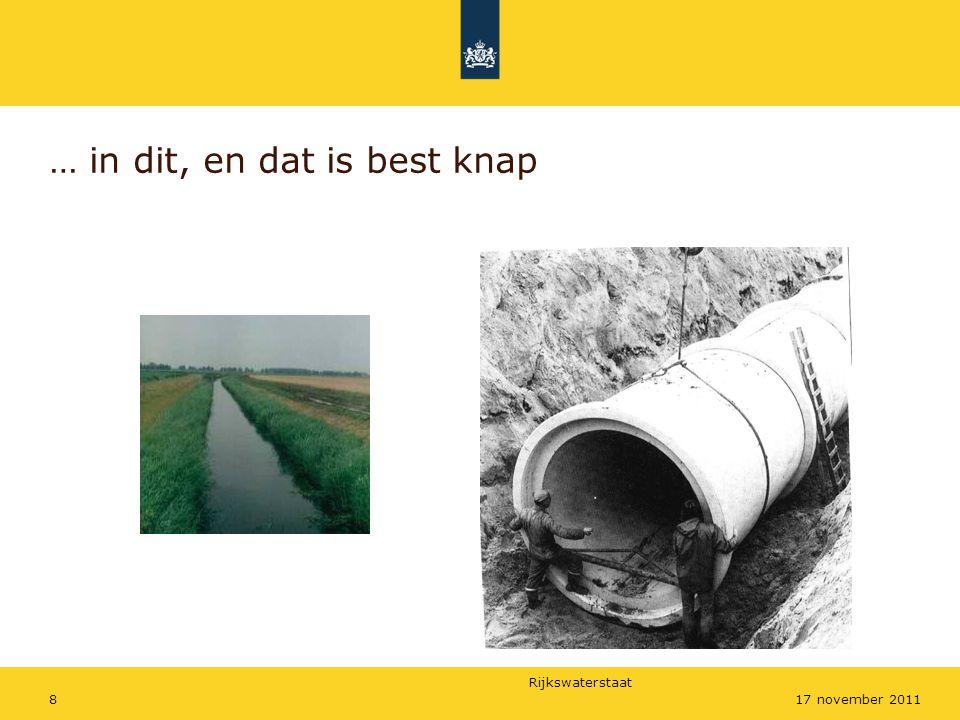 Rijkswaterstaat 917 november 2011 Achterstallig onderhoud: verschil in doorlaatfactor