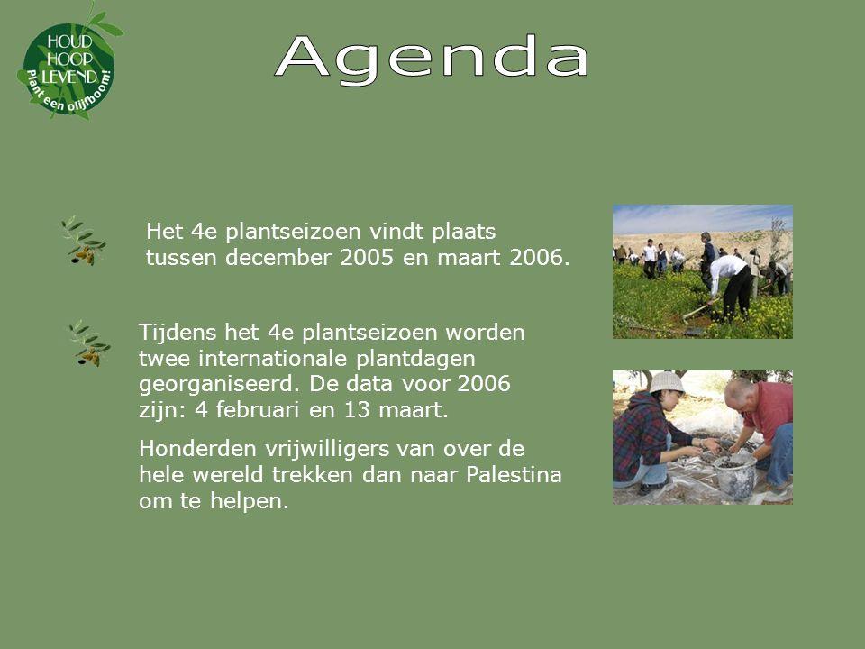 Tijdens het 4e plantseizoen worden twee internationale plantdagen georganiseerd.