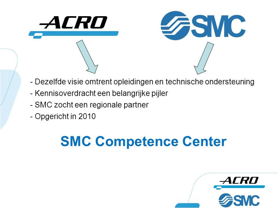- Dezelfde visie omtrent opleidingen en technische ondersteuning - Kennisoverdracht een belangrijke pijler - SMC zocht een regionale partner - Opgeric
