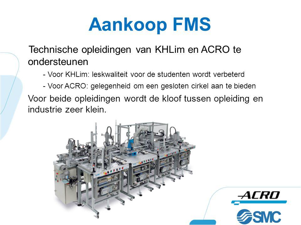 Aankoop FMS Technische opleidingen van KHLim en ACRO te ondersteunen - Voor KHLim: leskwaliteit voor de studenten wordt verbeterd - Voor ACRO: gelegen