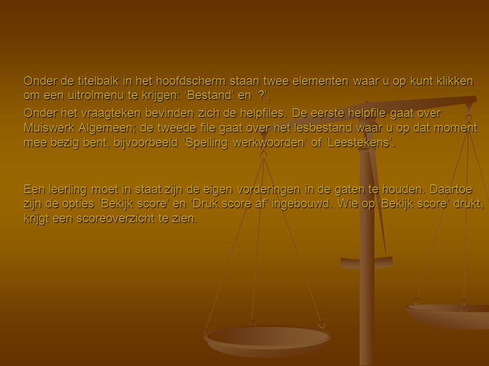 Muiswerk – Leestekens Prijs: € 150,00 inclusief 1 licentie, schoolversie.