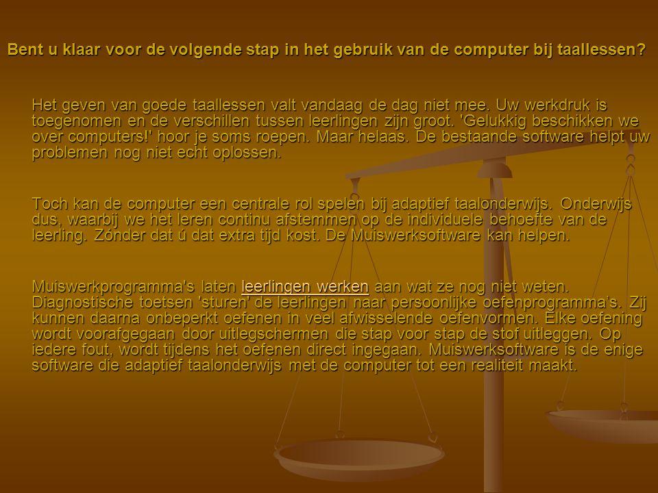 Bent u klaar voor de volgende stap in het gebruik van de computer bij taallessen? Het geven van goede taallessen valt vandaag de dag niet mee. Uw werk