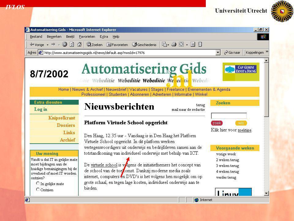 IVLOS Universiteit Utrecht 8/7/2002