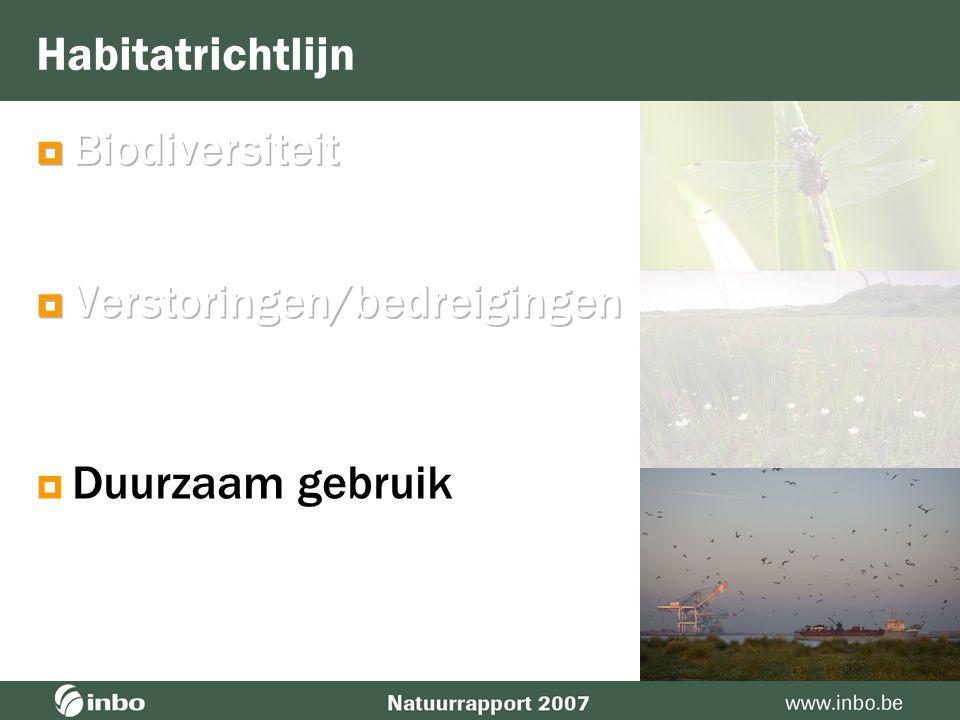 Terrestrisch milieu Ongeveer 70.000 ha habitats van Europees belang  In alle bos en heidehabitats kritische last stikstofdepositie overschreden 62 % 13 % 8 % 12 % 2 % 3 %