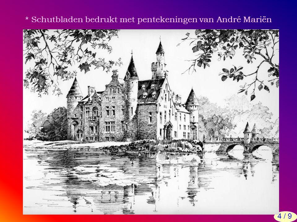 * Schutbladen bedrukt met pentekeningen van André Mariën 4 / 9