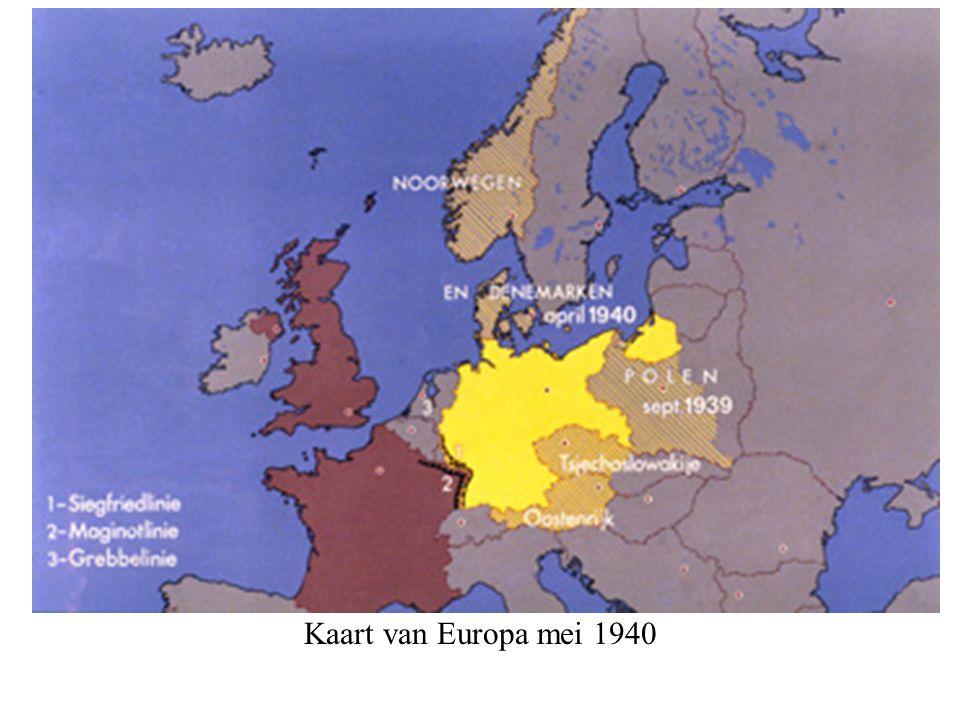 Kaart van Europa mei 1940