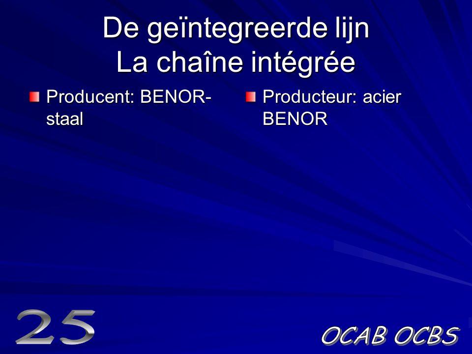 De geïntegreerde lijn La chaîne intégrée Producent: BENOR- staal Producteur: acier BENOR