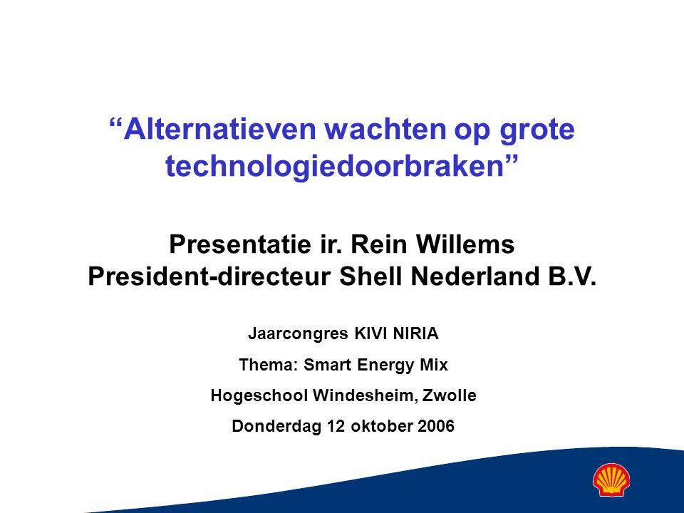 Alternatieven wachten op grote technologiedoorbraken Presentatie ir.