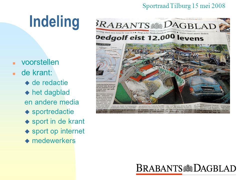 Tot slot n Nog vragen? Sportraad Tilburg 15 mei 2008