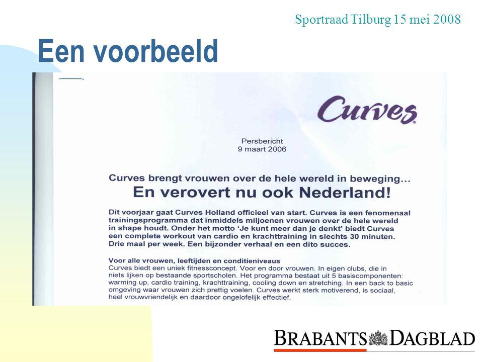 Een voorbeeld Sportraad Tilburg 15 mei 2008