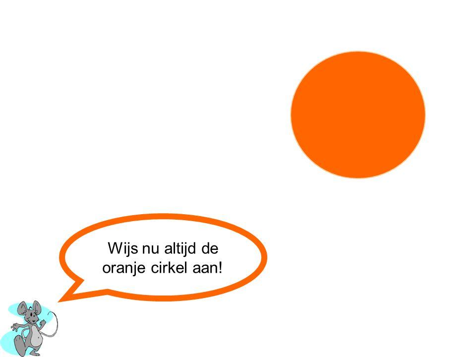 Wijs nu altijd de oranje cirkel aan!