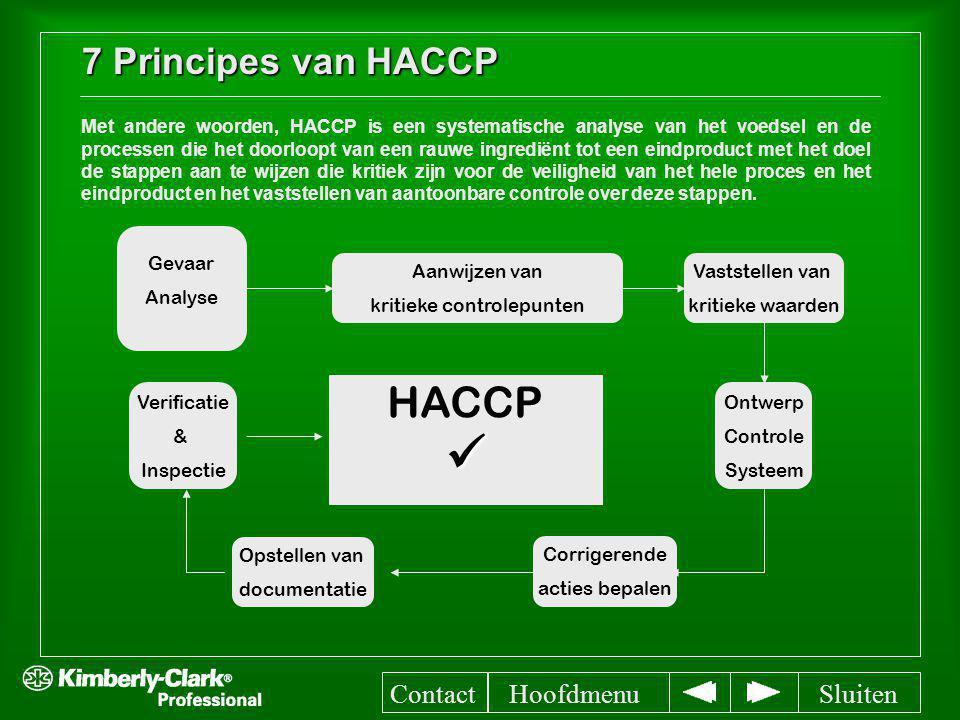 7 Principes van HACCP Met andere woorden, HACCP is een systematische analyse van het voedsel en de processen die het doorloopt van een rauwe ingrediën