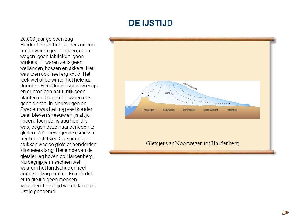 20.000 jaar geleden zag Hardenberg er heel anders uit dan nu. Er waren geen huizen, geen wegen, geen fabrieken, geen winkels. Er waren zelfs geen weil
