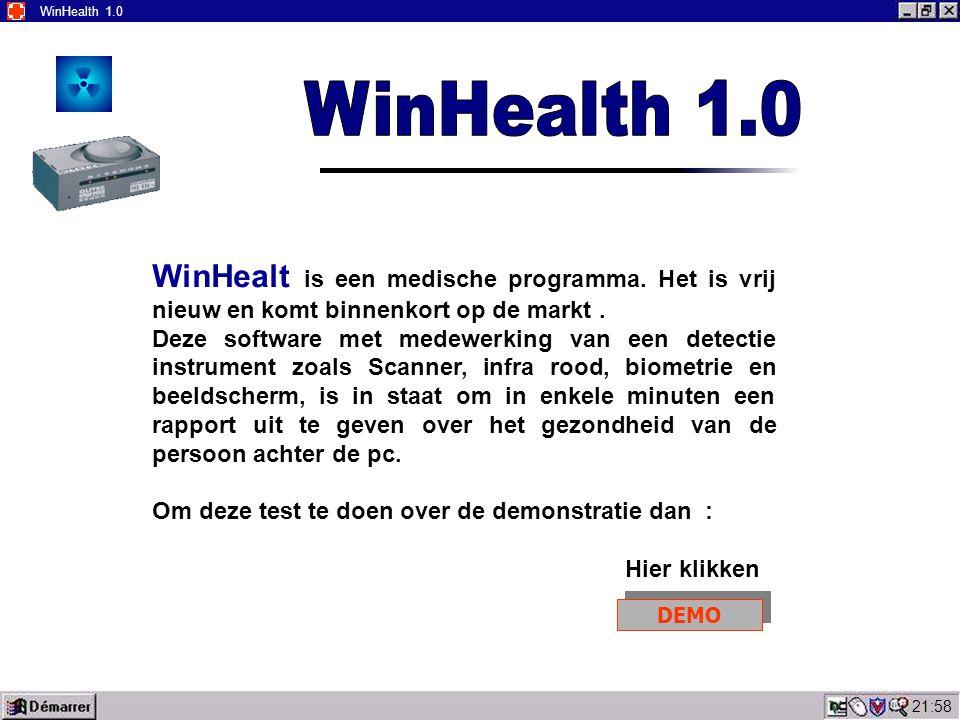 22:00 WinHealth 1.0 WinHealt is een medische programma.