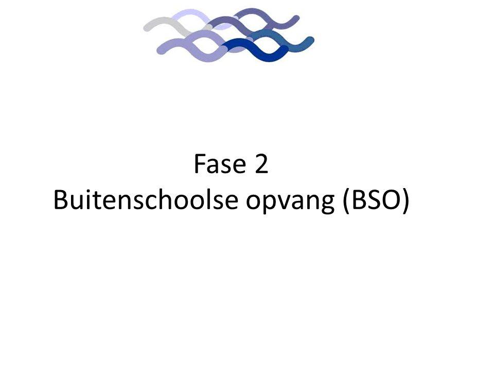 Aanleiding Fase 2 Buitenschoolse opvang (BSO)
