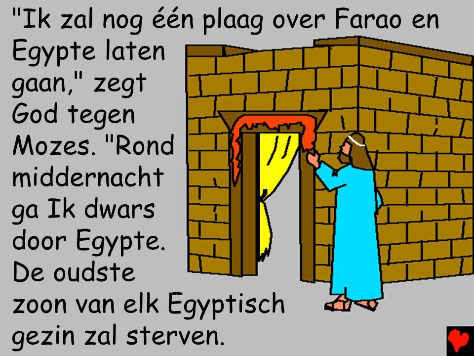 Ik zal nog één plaag over Farao en Egypte laten gaan, zegt God tegen Mozes.