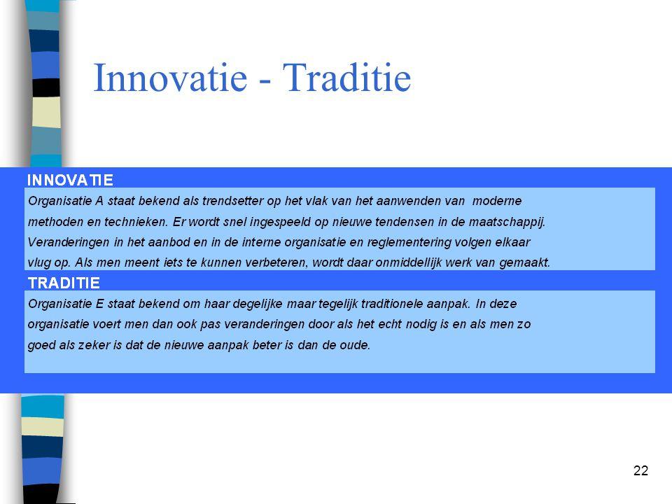 22 Innovatie - Traditie