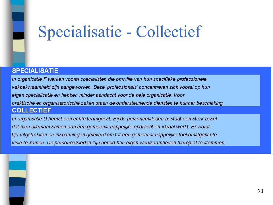 24 Specialisatie - Collectief