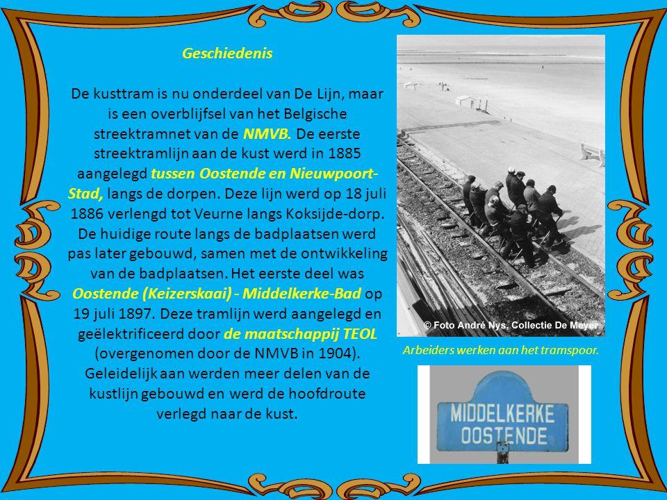 Geschiedenis De kusttram is nu onderdeel van De Lijn, maar is een overblijfsel van het Belgische streektramnet van de NMVB.