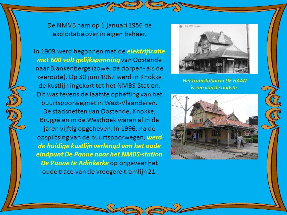 Pas op 11 augustus 1926 werd de laatste schakel, Groenendijk-Bad - Koksijde-Bad, van de huidige lijn Oostende - De Panne in dienst genomen. Op 8 augus