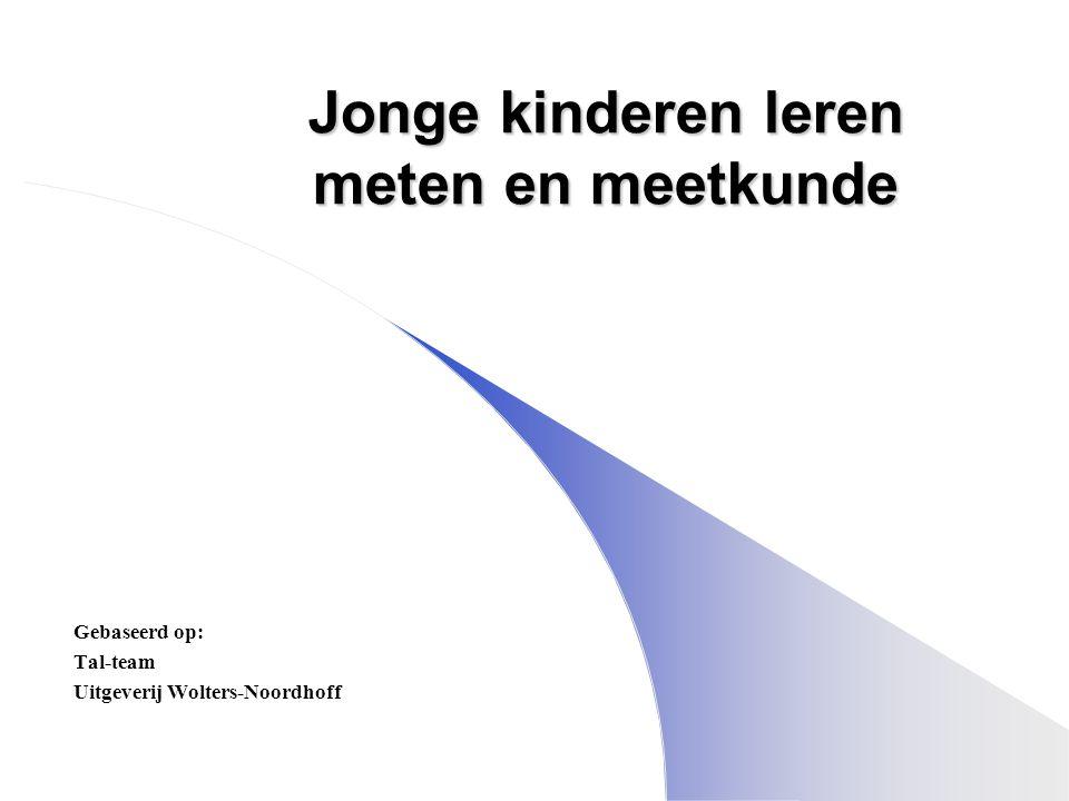 Jonge kinderen leren meten en meetkunde Gebaseerd op: Tal-team Uitgeverij Wolters-Noordhoff