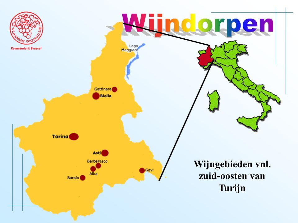 Wijngebieden vnl. zuid-oosten van Turijn