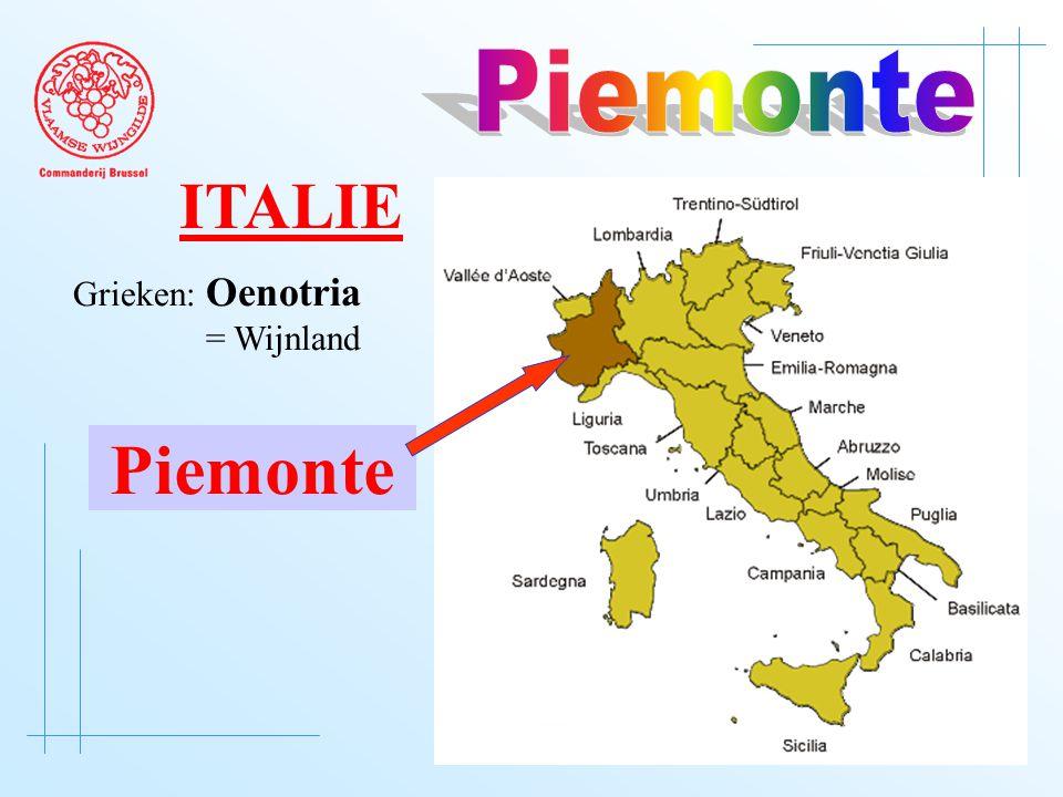 Grieken: Oenotria = Wijnland Piemonte