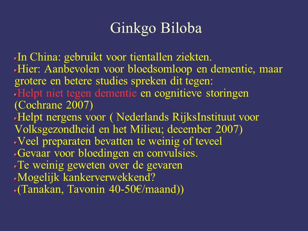 Ginkgo Biloba In China: gebruikt voor tientallen ziekten.