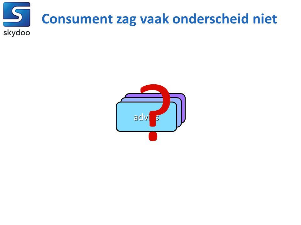 beheer bemiddeling advies Consument zag vaak onderscheid niet