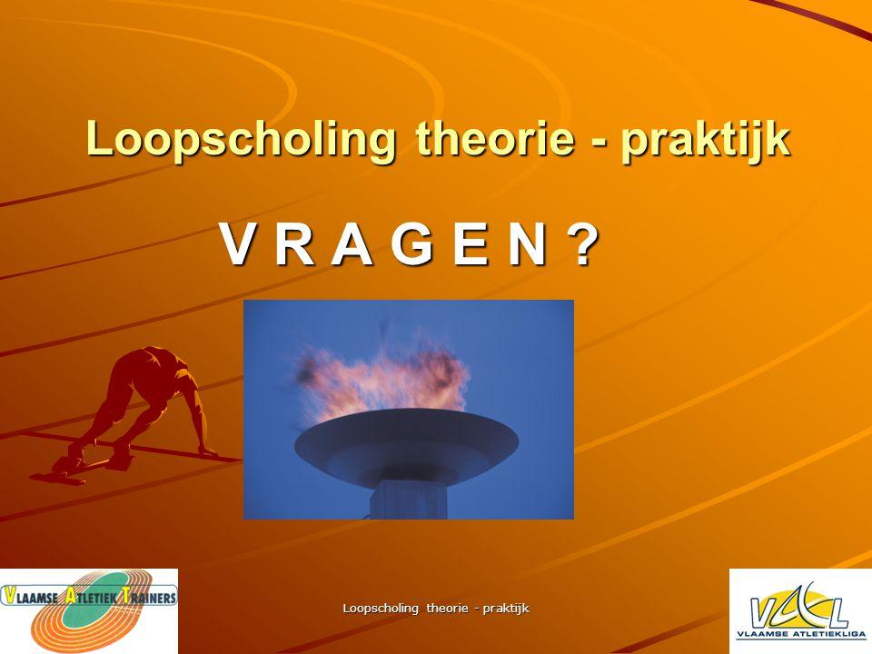 Loopscholing theorie - praktijk bronvermelding – litteratuur Opleidingen - bijscholingen –VTS – BLOSO - VAL opleidingscursussen –Loopscholing voor spr