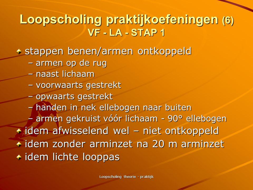 Loopscholing theorie - praktijk Loopscholing praktijkoefeningen (5) eventuele ontspanningsoefeningen • •stand, bekken voorwaarts gekanteld, rug recht,