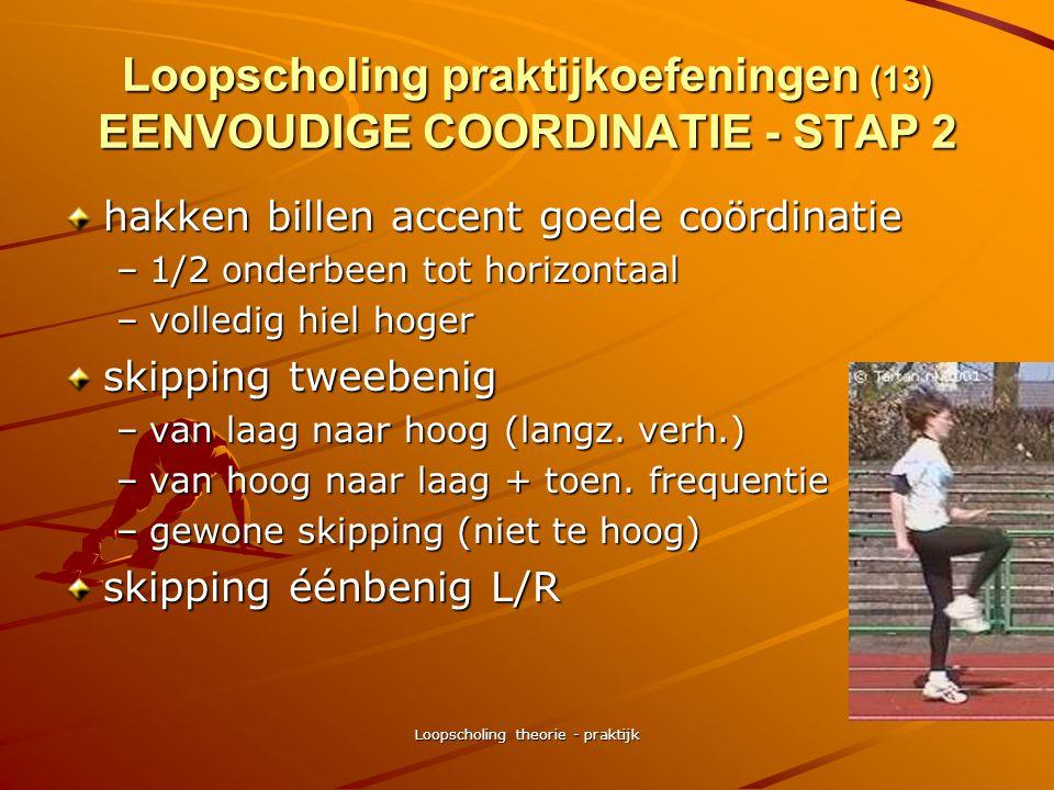 Loopscholing theorie - praktijk Loopscholing praktijkoefeningen (12) EENVOUDIGE COORDINATIE - STAP 2 zijwaarts lopen pas vóór/achter –nadruk op 'lopen